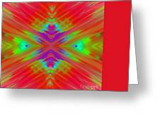 Rainbow Passion Abstract 2 Greeting Card