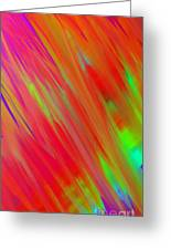 Rainbow Passion Abstract Upper Left Greeting Card