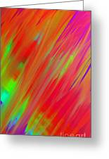 Rainbow Passion Abstract Upper Right Greeting Card
