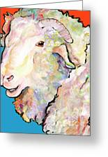Rainbow Ram Greeting Card
