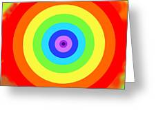 Rainbow Reality Greeting Card by Mariola Bitner