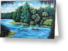 Rainbow River At Rainbow Springs Florida Greeting Card