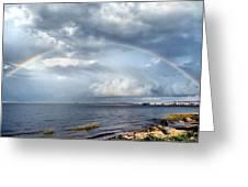 Rainbow Seascape Greeting Card