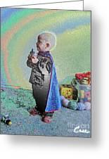 Rainbow Sherbet Little Ninja Boy Greeting Card