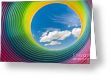 Rainbow Sky 2 Greeting Card