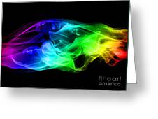 Rainbow Smoke Greeting Card