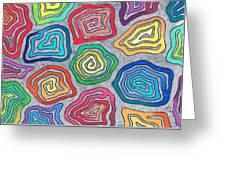 Rainbow Snails Greeting Card