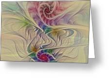 Rainbow Spirals Greeting Card