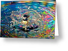 Rainbow Splash Greeting Card