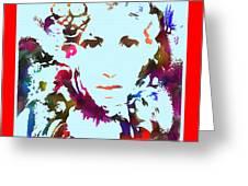 Rainbow Splattered Get A Little Closer Greeting Card