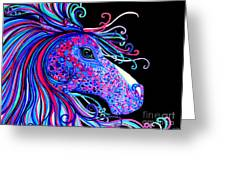 Rainbow Spotted Horse2 Greeting Card