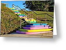 Rainbow Steps Greeting Card