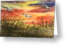 On Wind Of A Rainbow  Greeting Card
