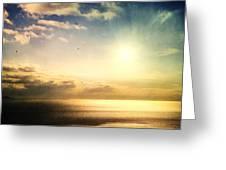 Rainbow Sunburst Greeting Card