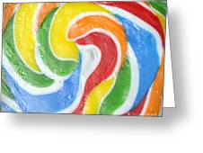 Rainbow Swirl Greeting Card by Luke Moore