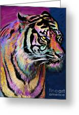 Rainbow Tiger Greeting Card