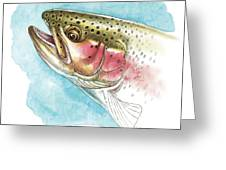 Rainbow Trout Study Greeting Card