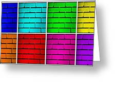 Rainbow Walls Greeting Card