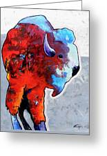 Rainbow Warrior Bison Greeting Card