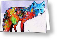 Rainbow Warrior - Fox Greeting Card