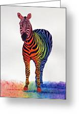 Rainbow Zebra Iv Greeting Card