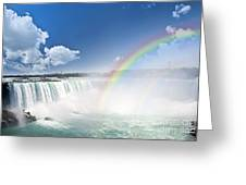 Rainbows At Niagara Falls Greeting Card