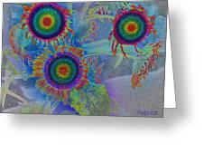 Rainbows In Flowers  Greeting Card
