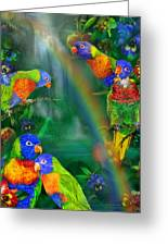 Rainbows In Paradise Greeting Card