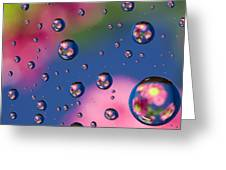 Raindrops And Flowers 7 Greeting Card
