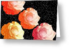 Raindrops On Roses - My Favorite Things Greeting Card