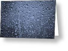 Raindrops On Window I Greeting Card