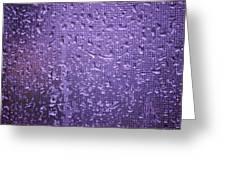 Raindrops On Window II Greeting Card