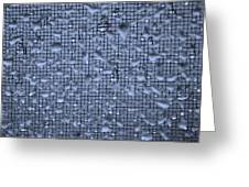 Raindrops On Window IIi Greeting Card