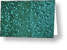 Raindrops On Window Iv Greeting Card