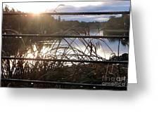 Raindrops To River Sunrise Greeting Card