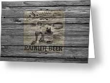 Rainier Beer Greeting Card