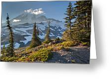 Rainier From Paradise Glacier Greeting Card