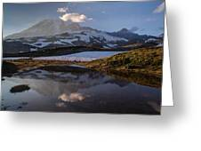 Rainier Reflected In A Glacial Tarn Greeting Card