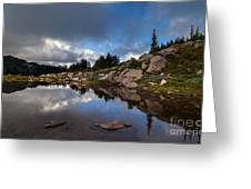 Rainier Spray Park Reflection Greeting Card