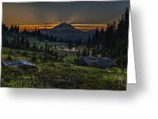 Rainier Sunset Basin Greeting Card
