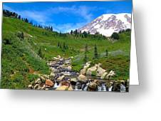 Rainier's Meadows Greeting Card