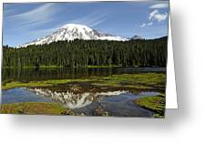 Rainier's Reflection Greeting Card