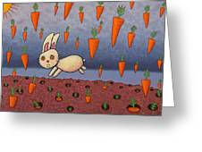 Raining Carrots Greeting Card