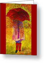 Raining Sunshine Greeting Card