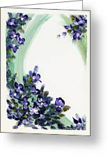 Raining Violets Greeting Card