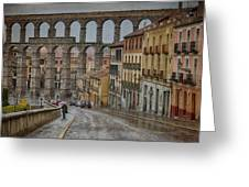 Rainy Afternoon In Segovia Greeting Card