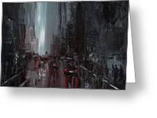 Rainy City. Part II Greeting Card
