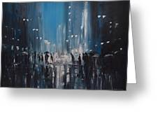 Rainy City Greeting Card