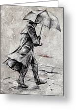 Rainy Day #07 Drawing Greeting Card by Emerico Imre Toth