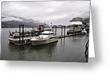 Rainy Day Dock Greeting Card